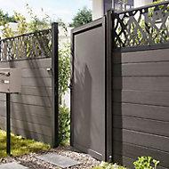 Portillon aluminium Idaho noir h.165 cm
