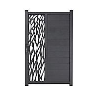 Portillon aluminium Neva anthracite 100 x h.174 cm