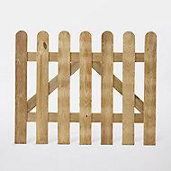 Portillon clôture bois Blooma Liao vert 100 x h.80 cm