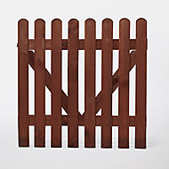 Portillon clôture bois Blooma Mekong marron 100 x h.100 cm