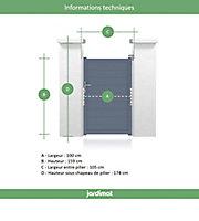 Portillon Jardimat aluminium Wissant gris 7016 - 100 x h.159 cm