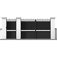 Portillon Jardimat fer Ronchaux noir - 100 x h.185 cm