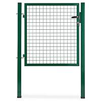 Portillon pour clôture grillagée à poteaux carrés Blooma vert 100 x h.100 cm