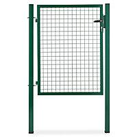 Portillon pour clôture grillagée à poteaux carrés Blooma vert 100 x h.120 cm