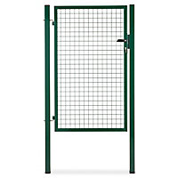 Portillon pour clôture grillagée à poteaux carrés Blooma vert 100 x h.150 cm