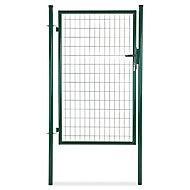 Portillon pour clôture grillagée à poteaux ronds vert 100 x h.150 cm