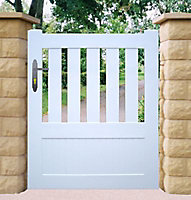 Portillon pvc Bretagne blanc - 100 x h.140 cm