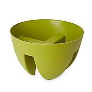 Pot balcon rond plastique Blooma Nurgul V vert ø30 x h.20 cm