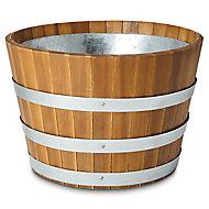 Pot rond bois Blooma Denia marron ø54 x h.32 cm