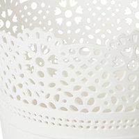 Pot rond dentelle plastique blanc ø12 cm