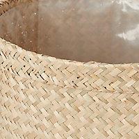 Pot rond herbes marines naturel pour pot de 24cm