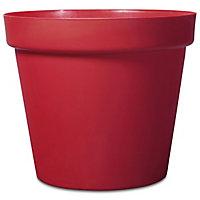 Pot rond plastique Blooma Nurgul rouge ø70 x h.59 cm