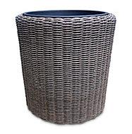 Pot rond plastique Blooma Soron marron ø48 x h.49 cm