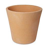 Pot rond terre cuite Blooma Mali effet blanchi ø50 x h.50 cm
