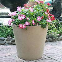 Pot rond terre cuite Blooma Mali marron ø50 x h.50 cm