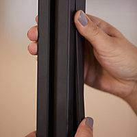 Poteau Alara noir h.225 cm
