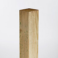 Poteau en bois Blooma vert 7 x 7 x h.180 cm