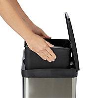 Poubelle de recyclage rectangulaire 2compartiments 40L Cleome