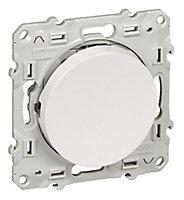 Poussoir Schneider electric Odace Blanc