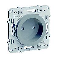 Prise 2 pôles+terre Schneider electric Odace Aluminium