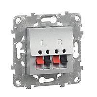 Prise haut-parleur Schneider electric aluminium