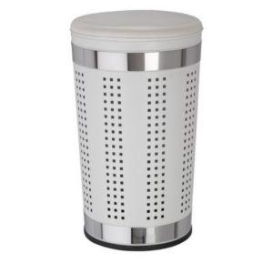 Panier à linge métal avec assise blanc Urban   Castorama 130ec4caf09