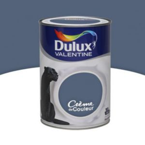 peinture murs et boiseries dulux valentine cr me de couleur bleu ardoise satin 1 25l castorama. Black Bedroom Furniture Sets. Home Design Ideas