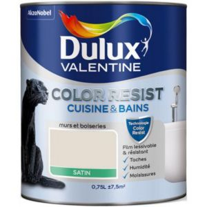 Peinture Cuisine Et Salle De Bain Dulux Valentine Color Resist Lin