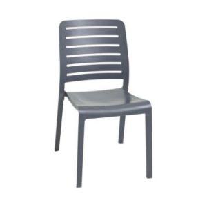 Chaise de jardin en résine Charlotte Country gris | Castorama