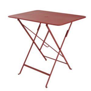 table de jardin bistro rouge piment pliante 77 x 57 cm castorama. Black Bedroom Furniture Sets. Home Design Ideas