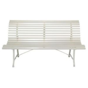 banc de jardin en m tal louisiane blanc castorama. Black Bedroom Furniture Sets. Home Design Ideas