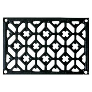 grille fonte rectangulaire noire 100 x 160 mm castorama. Black Bedroom Furniture Sets. Home Design Ideas