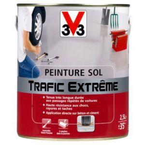 Peinture sol int rieur ext rieur v33 trafic extr me blanc for Peinture v33 trafic extreme