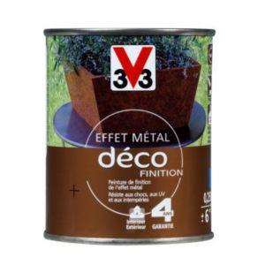 Peinture De Finition Effet Metal V33 Fonte Brulee 0 25l Castorama