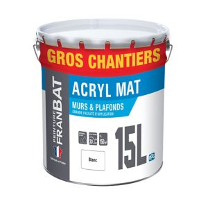 Peinture Murs Et Plafonds Franbat Blanc Mat 15l Castorama
