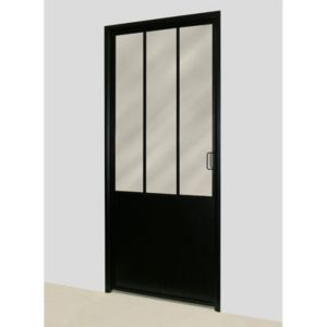 bloc porte atelier noir 83 cm castorama. Black Bedroom Furniture Sets. Home Design Ideas