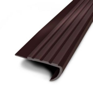 nez de marche teck a coller pvc marr 43x170 cm castorama. Black Bedroom Furniture Sets. Home Design Ideas