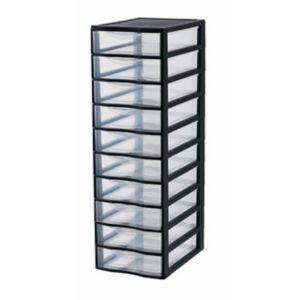Tour de rangement 10 tiroirs en plastique Orgamix | Castorama