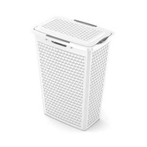 Panier à linge plastique 40L blanc Country   Castorama 8132263fb3de