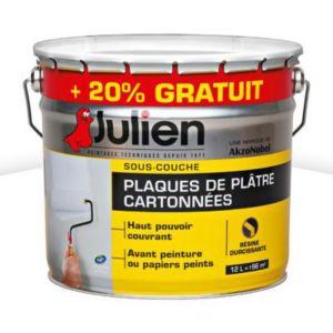 Sous couche plaques de pl tre julien j6 10l 20 gratuit castorama - Sous couche peinture julien ...