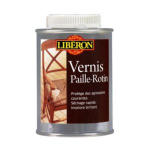 Vernis paille rotin liberon incolore brillant 0 25l for Marque peinture castorama