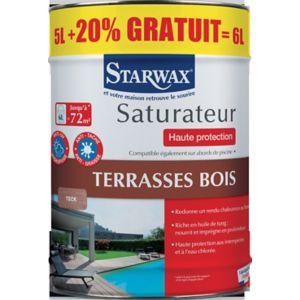 Saturateur Terrasse En Bois Teck Haute Protection 5 L Castorama