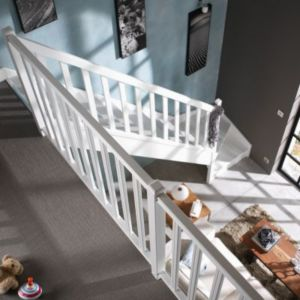 escalier 1 4 tournant bois cm 13 marches sapin rampe gauche castorama. Black Bedroom Furniture Sets. Home Design Ideas