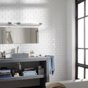 Carrelage mur blanc 7,5 x 15 cm HD2I Métro | Castorama