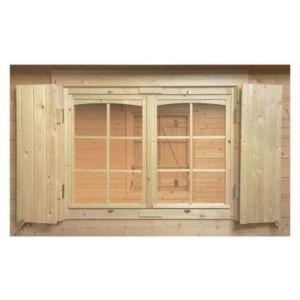 Volets de fen tre pour abri de jardin bois luoman 119 x 87cm castorama - Castorama abris de jardin luoman ...