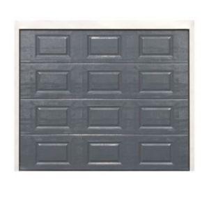porte de garage sectionnelle cassettes dublin grise x cm castorama. Black Bedroom Furniture Sets. Home Design Ideas