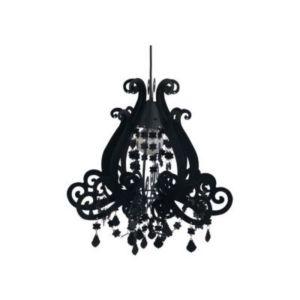 suspension colours marquise noir 49 x cm castorama. Black Bedroom Furniture Sets. Home Design Ideas