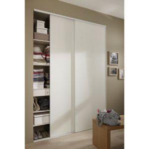 portes de placard coulissantes blanc vein 250 x 180 cm. Black Bedroom Furniture Sets. Home Design Ideas