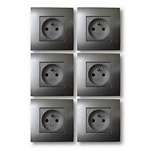 interrupteur et prise castorama. Black Bedroom Furniture Sets. Home Design Ideas