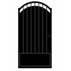 portillon fer blooma oria noir 100 x cm castorama. Black Bedroom Furniture Sets. Home Design Ideas